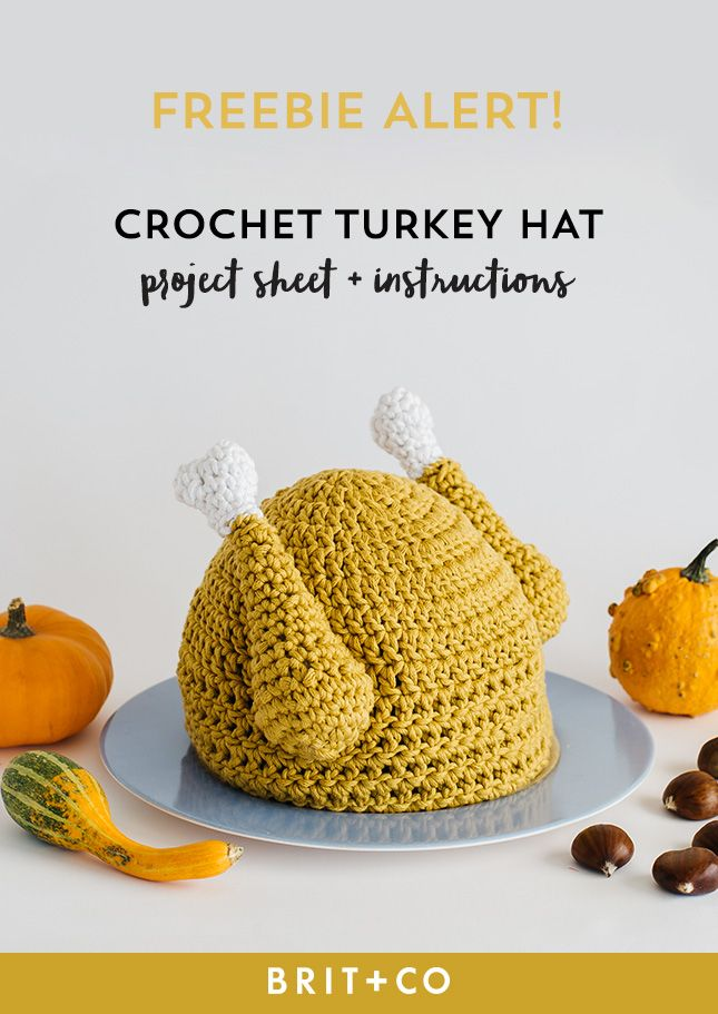You can DIY a crochet turkey hat for Thanksgiving with this tutorial.