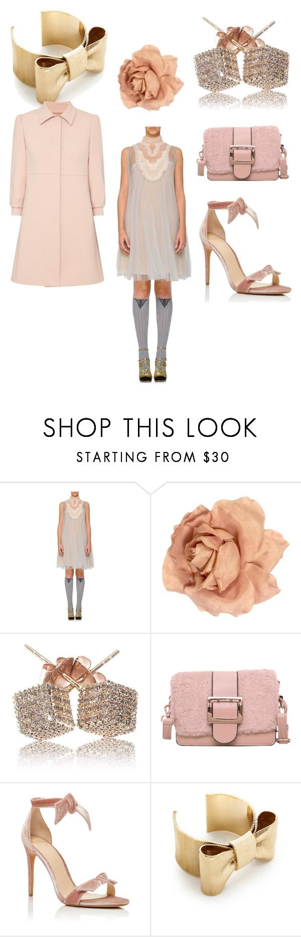"""Delicate rose"" by cottoncandyappleclovers ❤ liked on Polyvore featuring Prada, Chanel, Alexandre Birman, Kate Spade and RED Valentino"