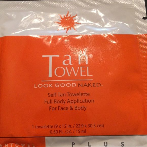 Tan Towel Full Body Plus 8 piece pack Get your summer tan now!!! Tan Towels Full Body Plus - Exfoliate, Tan, and Moisturize all in one!  Self tanner for face and body. The towelettes are infused with a clear self-tanning formula which works with the proteins and amino acids in your skin to produce a healthy gorgeous tan. Package has not been opened. 8 individual tan towels. I love them but bought too many. Tan Towel Other
