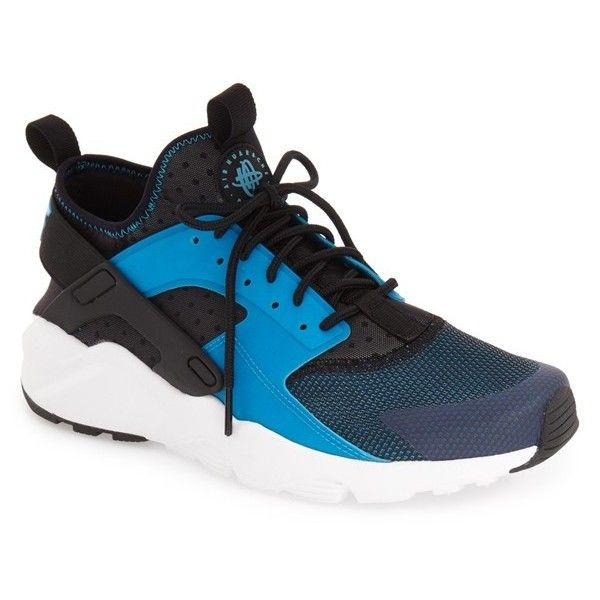 Nike 'Air Huarache Run Ultra' Sneaker (13310 RSD) ❤ liked on Polyvore featuring men's fashion, men's shoes, men's sneakers, nike mens sneakers, mens lace up shoes, mens lightweight running shoes, mens sneakers and mens shoes