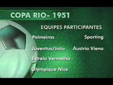 Reconhecimento da Copa Rio 51, primeiro Mundial de Clubes