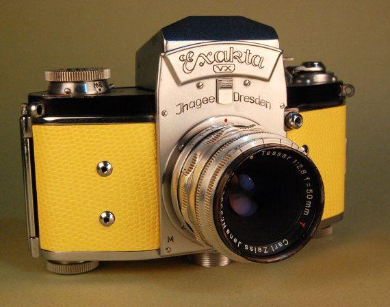 Ihagee Exakta VX camera and Zeiss Tessar lens, Custom wrap by retrograph,