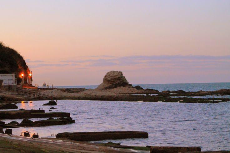 tramonto sul mare Ancona
