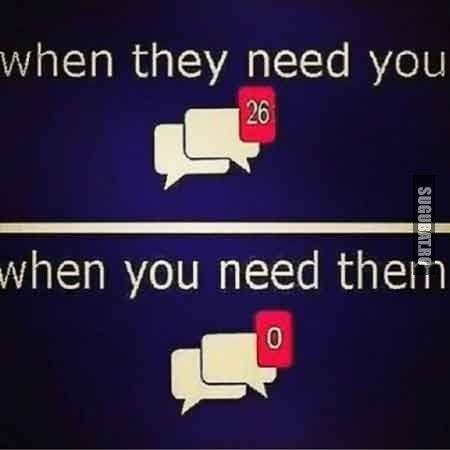 Cand prietenii au nevoie de tine vs. Cand tu ai nevoie de prieteni - Sugubat