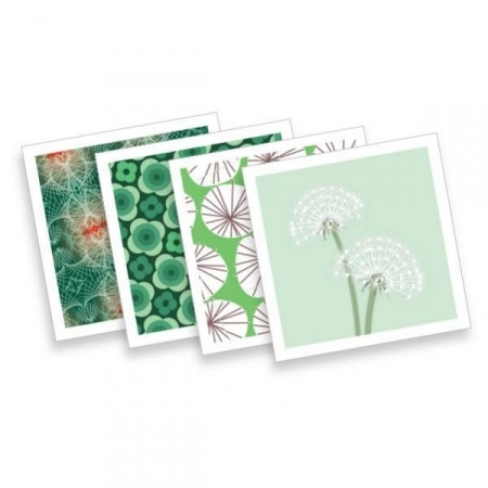 Cute retro cards in green from Snøstorm. (CC BY-NC-ND 4.0)