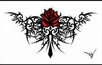 Tribal Rose Tattoo for women.