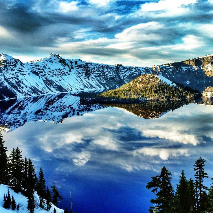 Crater Lake National Park, Oregon, USA / Национальный парк Озеро Крейтер, штат Орегон, США