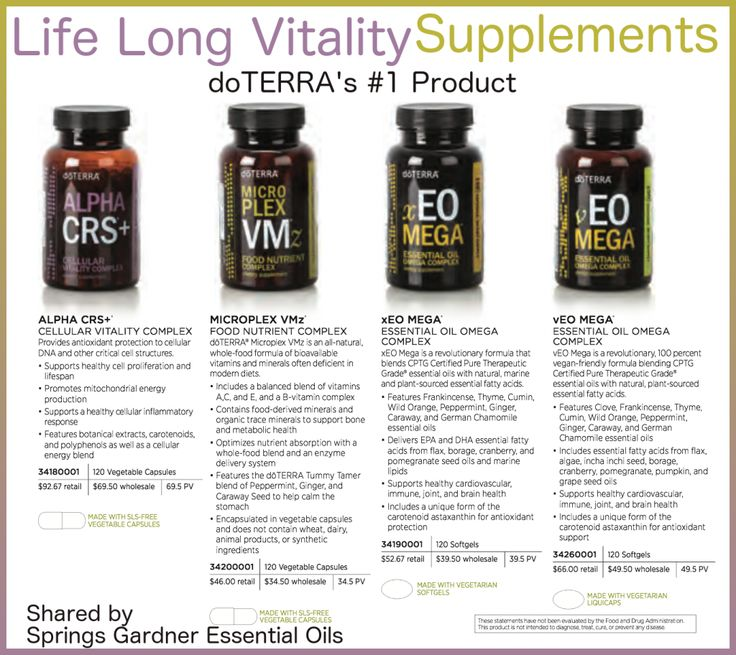 Do you know what doTERRA's #1 product is? It's the Lifelong Vitality Pack. Discover why is is the foundation to great health.