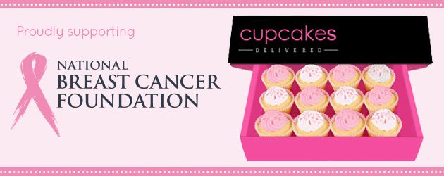 yum! Order your box of @National Breast Cancer Foundation Australia #cupcakes from @Cupcakes Delivered  and a donation comes to support #breast #cancer research. #Australia wide