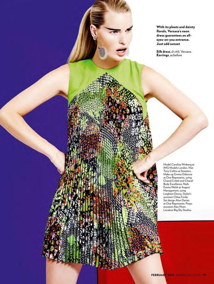 """""""Fashion Goes Pop"""" Caroline Winberg for Red UK February 2016"""