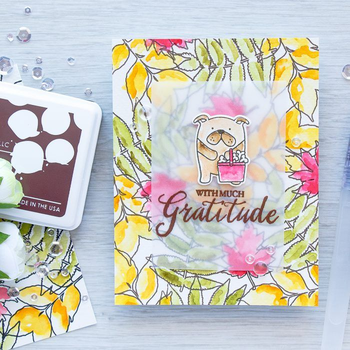 With Much Gratitude Card. Loose Watercolor Background for a Fall Card. Video…