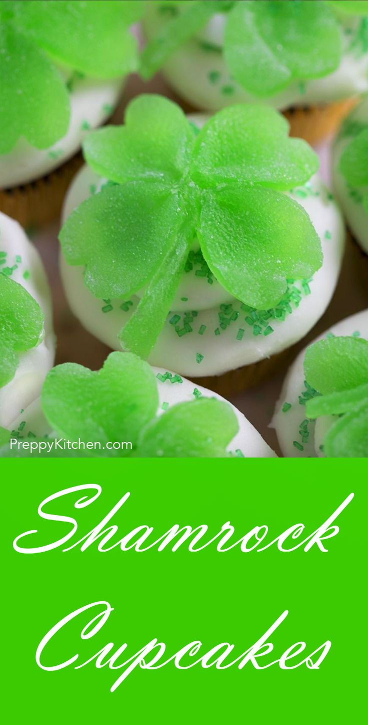 Shamrock Cupcakes via @preppykitchen