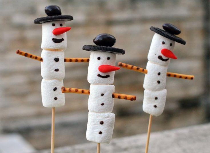 Pillecukor hóember készítése adventra  Marshmallow snowman tutorial