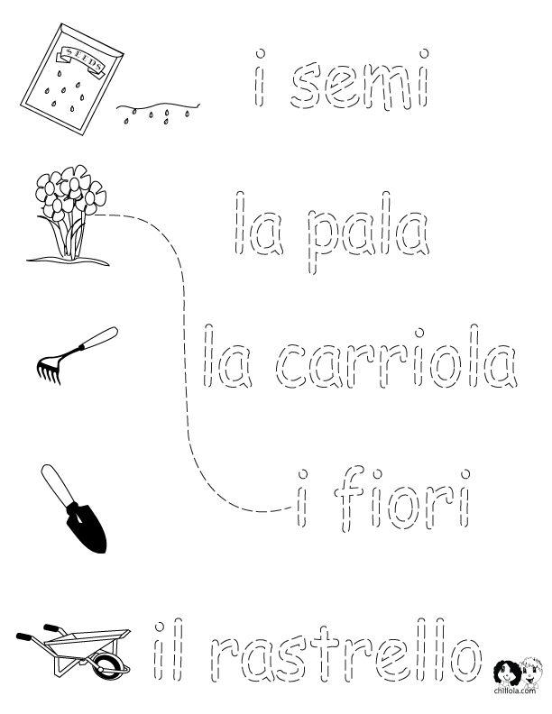 Italian letters worksheets for kids - Vu