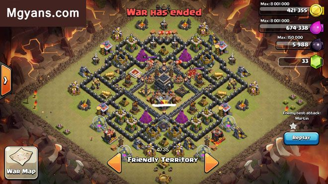 Top 3 Strongest TH9 War Base Designs Clash of Clans ...
