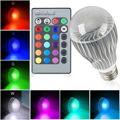 t power 16 colors led magic spot light bulb for holiday decorations christmas xmas new year decorate lighting spotlight halloween strobe dimmer glow - Christmas Light Dimmer