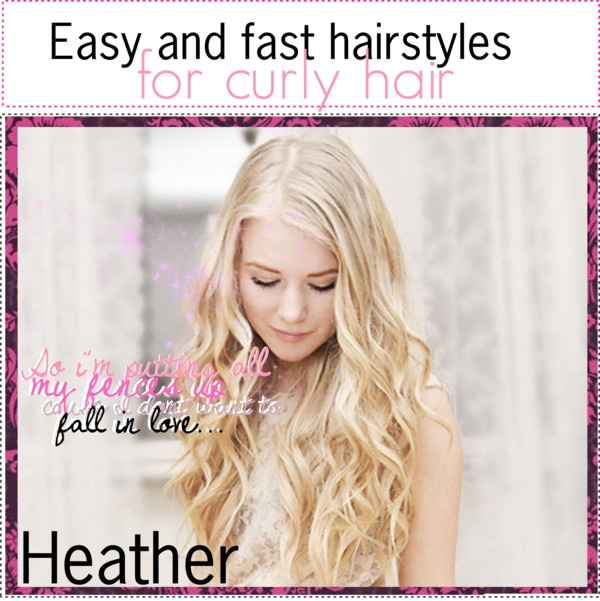 """""""Easy and fast hairstyles for curly hair"""" by tipit ❤ liked on Polyvore"""