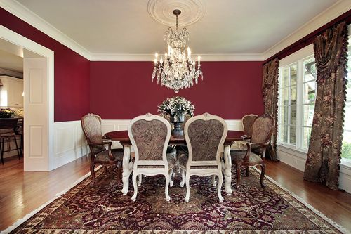 Best 25 red dining rooms ideas on pinterest living room for Dining room decorating ideas red walls