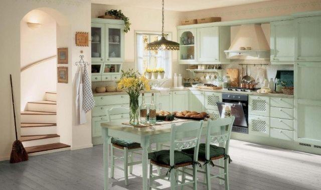 cucina shabby chic provenzale azzurra - Arredamento Shabby