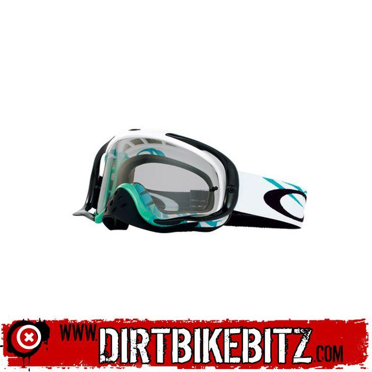 2014 Oakley Crowbar Motocross Goggles - Razorwire Blue Green - 2014 Oakley Motocross Goggles - 2014 Motocross Gear - by Oakley