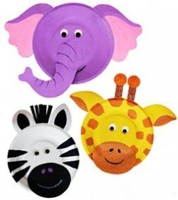 Lets pretend to be animals! First step, make some great masks out of paper plates! Have a zoo-themed day!