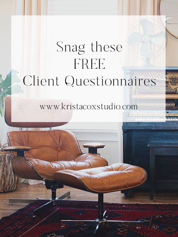 For A Short Time Im Giving My Client Questionnaires Away For Free These Help Me Get My Interior Decorator Career Photography Questionnaire Design Clients
