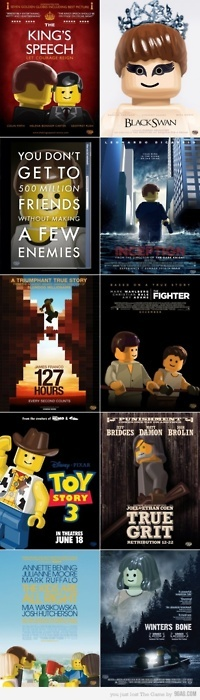 Lego at the Oscars - A great idea - - I think we should try to use this idea to make movie posters for our Lego movies.