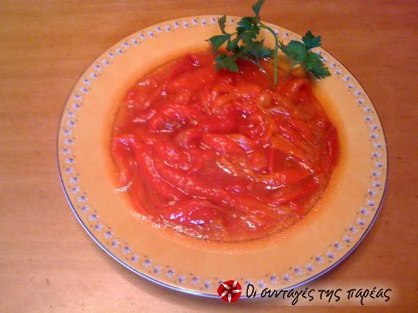 Σαλάτα με πιπεριές Φλωρίνης θεϊκή #sintagespareas