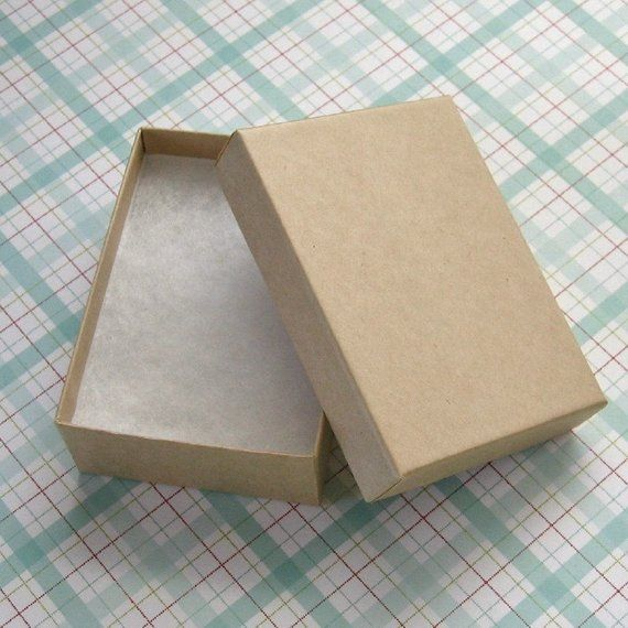 10 Kraft Cotton Filled Jewelry Boxes High Quality 3 1 8 X 2 1 4 X 1 Inch Medium Products In 2019 Jewelry Box Packaging Supplies Cardboard Packaging