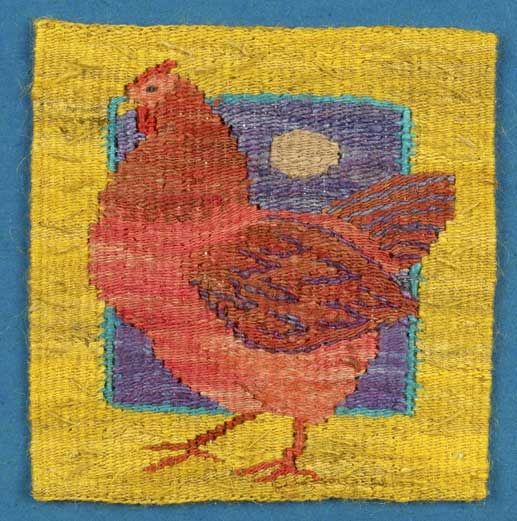 Kristin Glasbrook....Six Birds. A Tapestry Weaving