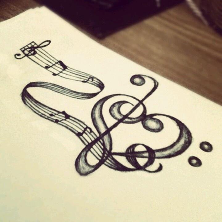 22 Music Tattoo Designs Ideas: PLEASE ..Don't Stop The M☆U☆S☆I☆C..♡♡♡