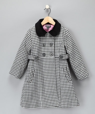 Take a look at this Kenneth Cole Black Houndstooth Coat - Girls by Mad for Plaid: Kids' Apparel & Shoes on #zulily today!