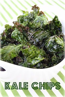Kale Chips - I have to try these...Gwyneth Paltrow made them look so good on Ellen! (update: burnt the hell out of them and the ones that survived smelled gross.  Not a winner, but willing to give it a 2nd go...)