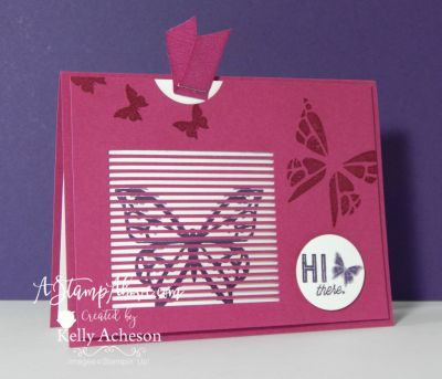 OMGosh - this butterfly flutters when you pull out the insert from the front of the card....it's so stinkin' fun!!! Click on the photo to see the video tutorial and order the YOU MOVE ME bundle today! www.AStampAbove.com