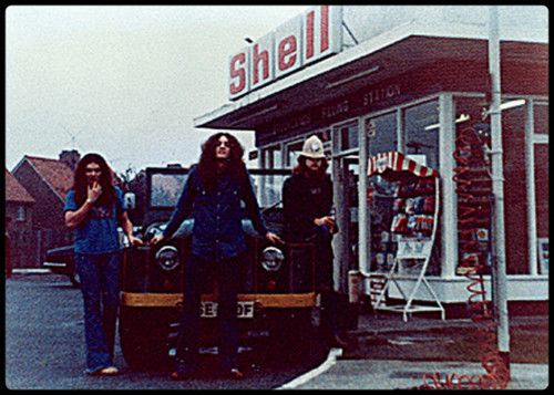 Gary, Allen and Leon stopping for gas