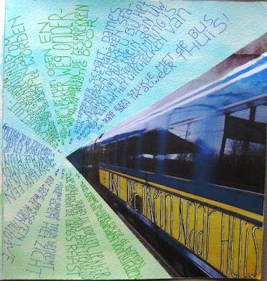 Zoek en afbeelding van een vervoersmiddel, plak deze op een stuk papier en laat je inspireren door deze manier van reizen, schrijf een tekst … als ik reis