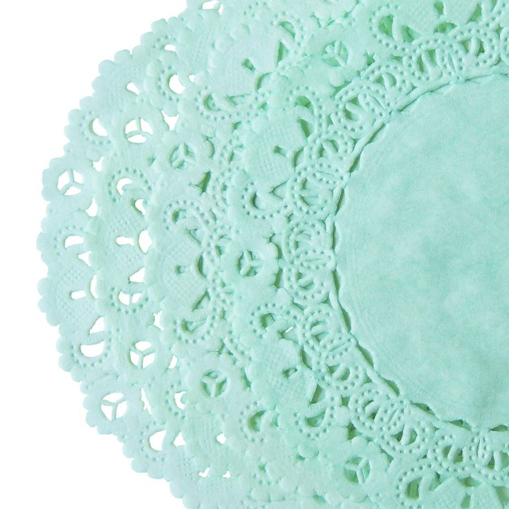 MINT GREEN Colored || NORMANDY Style Paper Lace Doilies
