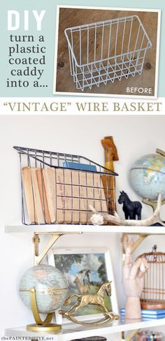 No paint required! How to easily remove the plastic coating from wire baskets