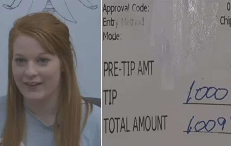 A college-bound Texas waitress says she's in shock after receiving a generous gift from a customer – a $1,000 tip.