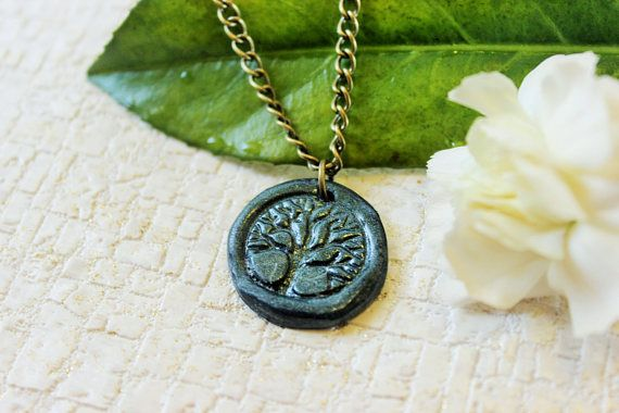 Tree Of Life Necklace Wax Seal Jewelry Pagan Gift Fairytale