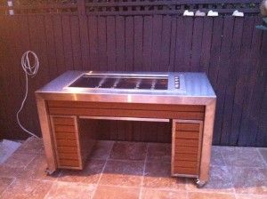 Timber stainless steel combination BBQ area