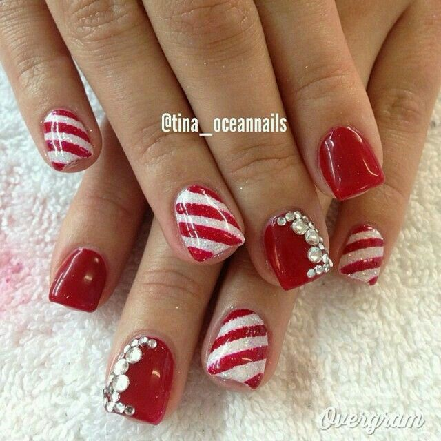 valentine's day gel nails