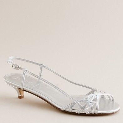 silver kitten heel sandals (I know you love kitten heels, right @Abby Christine Bartel? :)