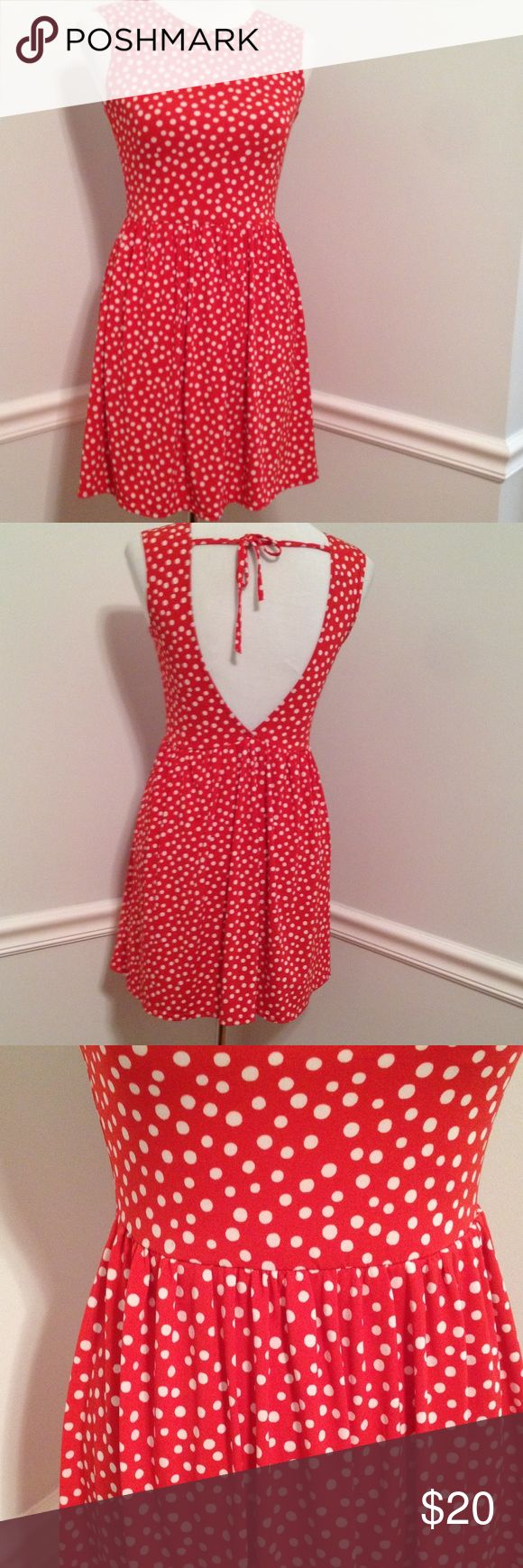 Asos Polka Dot Dress Polka Dot Dress Petite about 31 1/2 inches long ASOS Petite Dresses