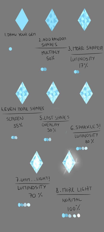 How do I draw: Gems by Lairai on deviantART