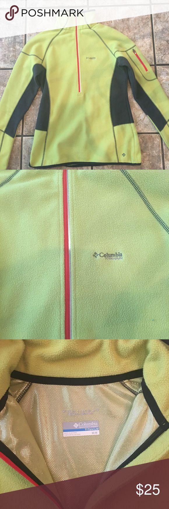 Columbia fleece TITANIUM Columbia sportswear fleece. Ladies size Medium.  Cute with leggings or jeans. Columbia Tops Sweatshirts & Hoodies