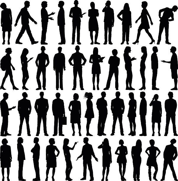 Highly Detailed People Silhouettes Silhouette People Silhouette Architecture Shadow People
