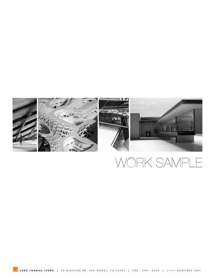 Great architecture resume The 203 best portfolio