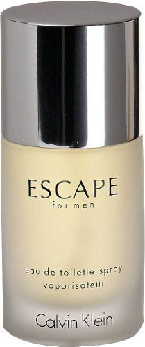 Men's Escape by Calvin Klein Eau de Toilette Spray - 1.7 oz. by Calvin Klein. $26.86. Fragrance Notes: mandarin, apple, plum, peach, rose and sandalwood.. Year Introduced: 1993. EDT SPRAY 1.7 OZ. Recommended Use: daytime. Launched by the design house of Calvin Klein in 1993 ESCAPE is classified as a refreshing spicy lavender amber fragrance. This masculine scent possesses a blend of mandarin apple plum peach rose and sandalwood.. Save 40% Off!