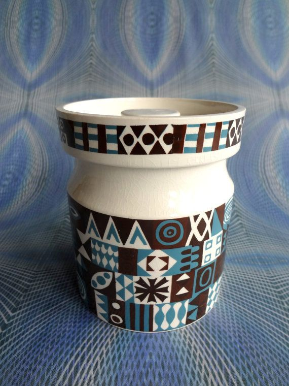 Vintage Portmeirion Storage Jar In Tivoli by PurelyPortmeirion